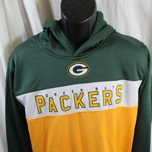 Green Bay Packers hoodie Youth XL green gold